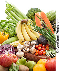 vegetables and fruits - variety of vegetables and fruits...