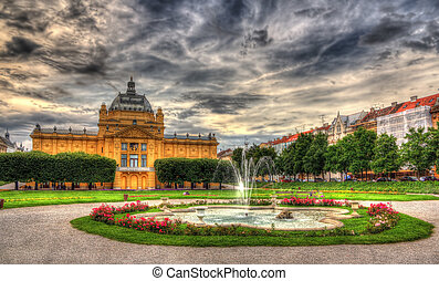 King Tomislav Square in Zagreb, Croatia