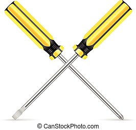 Screw driver icon - screw driver icon on a white background....