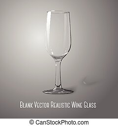 Blank tall transparent photo realistic isolated on grey wine glass. Vector