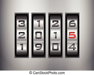 combination lock 2015 - Metallic combination lock 2015 New...