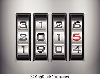 combination lock 2015 - Metallic combination lock 2015 New...