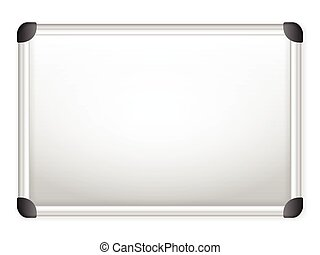 whiteboard - Whiteboard on a white background Vector...