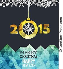 Merry Christmas and a happy New Year greeting card