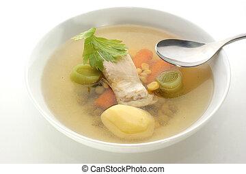 湯,  fish, 有机, 蔬菜, 新鮮