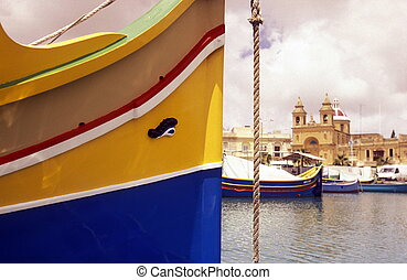 EUROPE MALTA MARSAXLOKK - The Fishing Village of Marsaxlokk...
