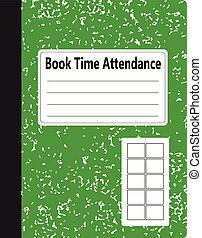 Book Time Attendance - Traditional office notebook of...