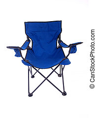 Camping Chair - Blue folding chair for camping and outdoor...
