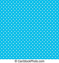 Polka dots on baby blue background