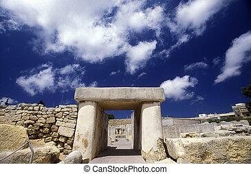 MALTA VALLETTA - Der Prehistorische Tempel von Mnajdra im...