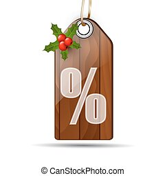 Wooden sale sign board