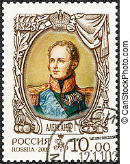 RUSSIA - 2002: shows Alexander I (1777-1825), dedicated the hist