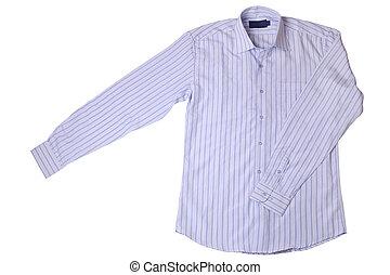 Blue pinstriped dress shirt