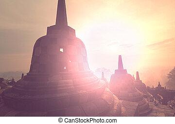 Borobudur Temple,Java, Indonesia