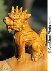 Mythical lion- Suan Ni - fifth son of dragon - antique...