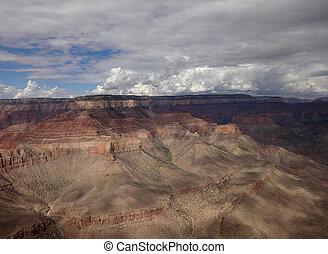 峡谷, 光景, 航空写真, 壮大