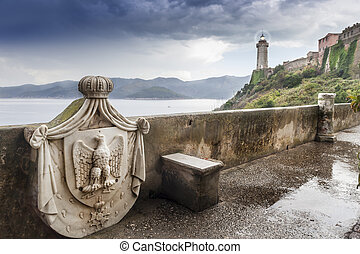 Elba - Famous armour of Napoleon on Elba island
