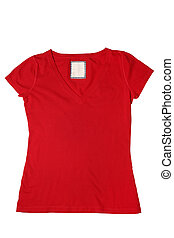 Woman's red t-shirt
