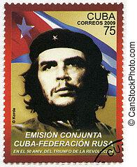 Cuba, -, 2009:, exposiciones, comandante, Ernesto, Guevara,...