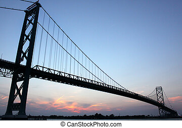 Ambassador Bridge - The Ambassador bridge at dusk taken from...