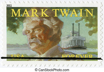 UNITED STATES OF AMERICA - 2011: shows Mark Twain...