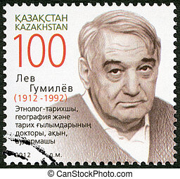 KAZAKHSTAN - 2012: devoted to the 100 birth anniversary Lev...