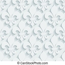 White perforated paper. - White perforated paper with cut...