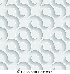 White perforated paper - White perforated paper with cut out...