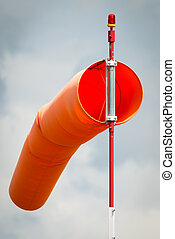 Windsock for aircraft pilots to judge wind speed and...