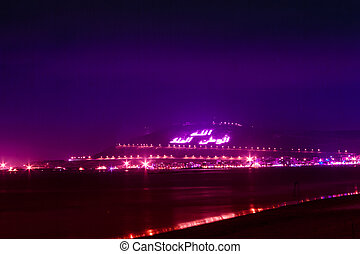 The Casbah at Night, Agadir, Morocco - The Casbah Mountain...