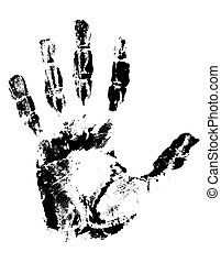 handprint black vector illustration