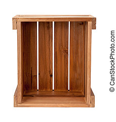 Open Ended Wooden Crate - An open ended small wooden crate....