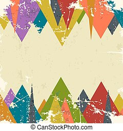 Abstract grunge background with triangles. Vector