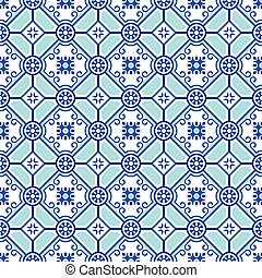 Seamless pottery pattern