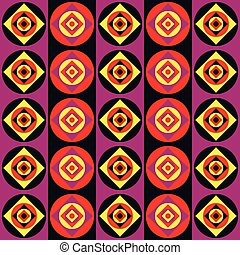 Seamless disco stripes pattern