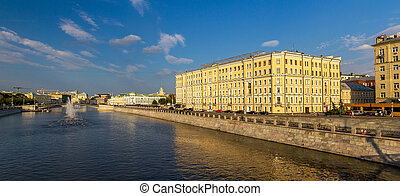 Vodootvodny Canal in Moscow, Russia