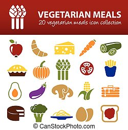 vegetarian meals icons