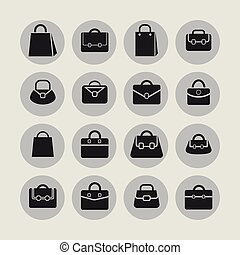Bag icons - Bag sale market shop icon set