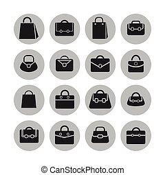 Bag icons - Bag sale market shop icon set