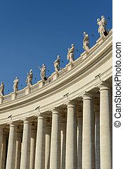 Sculptures of saints in Vatican, Rome, Italy