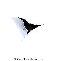 hole in  paper.