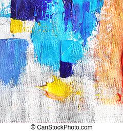 oil paint  - colorful oil paint on canvas