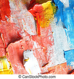 oil paint - colorful oil paint on canvas