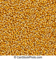 Seamless Tileable Texture of Corn Beans - Yellow Corn Beans...