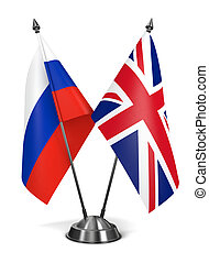 Russia and Great Britain - Miniature Flags - Russia and...