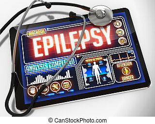 Epilepsy on the Display of Medical Tablet - Epilepsy on the...