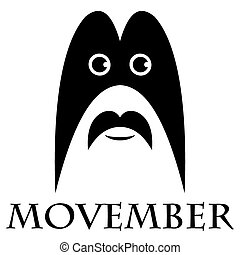 Movember - man with a mustache and a mask - Movember - the...