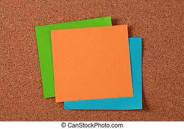 Blank Notes On Cork Board