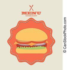 fast food design - fast food graphic design , vector...