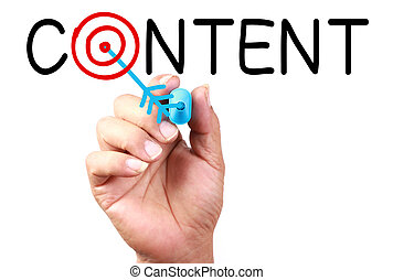 Content Concept - Drawing Content Target Concept on...
